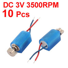 UXCELL(R) High Quality 10pcs  3V 3500RPM DC Pager Cell Phone Micro Vibration Motor 4mm x 8mm