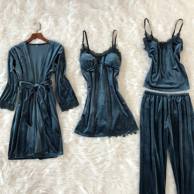 4PCS SEXY LACE WOMEN NIGHTWEAR (