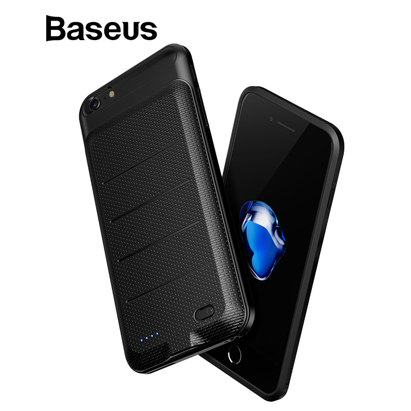 Baseus de la caja de batería para iPhone 6 Plus, 6 S Plus externa del caso del cargador para iPhone 6 S Plus de carga de la batería caso caso de banco de potencia