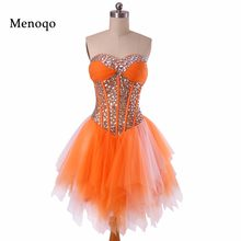 Real Show Sexy Hot Beaded Crystal Tulle A line Mini length Short Prom Party  Dresses 2019 Sexy Short Homecoming Dresses b948b0b2270a