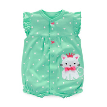 2017 Baby Rompers Summer Baby Girl Clothes Cartoon Newborn Baby Clothes Roupas Infant Jumpsuits Baby Girl Clothing Set(China)