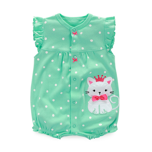 54dd61c46 US $5.29 |2017 Baby Rompers Summer Baby Girl Clothes Cartoon Newborn Baby  Clothes Roupas Infant Jumpsuits Baby Girl Clothing Set-in Rompers from ...
