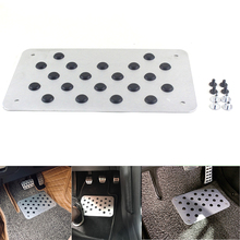 Aluminum alloy Car Non-slip Plate Carpet pedal Floor Mat Environmental Rubber Accessories Styling