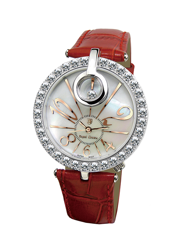 Royal Crown Jewelry Watch 3850 Italy brand Diamond Japan MIYOTA platinum Genuine Leather strap fashion female Wristwatches royal crown jewelry watch 3850 italy brand diamond japan miyota platinum best fashion dress bracelet shell luxury rhinestones