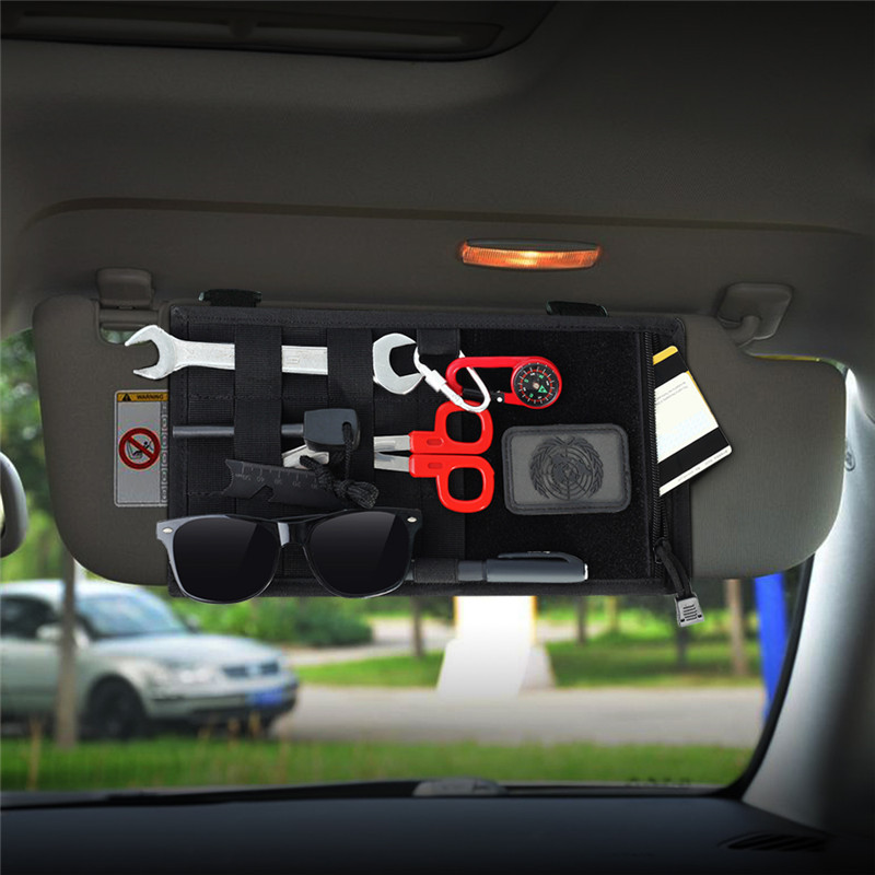 Outdoor Vehicle Car Sun Visor Organizer Holder Hunting Car Card Ticket Accessory Storage Molle Pouch BagOutdoor Vehicle Car Sun Visor Organizer Holder Hunting Car Card Ticket Accessory Storage Molle Pouch Bag