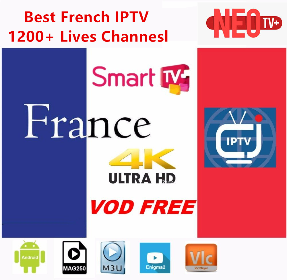 1Year Neotv Pro French IPTV Subscription Beigium Arabic Europe French Stream Live Tv Code Iptv 1800 Channels And 2000 Movies