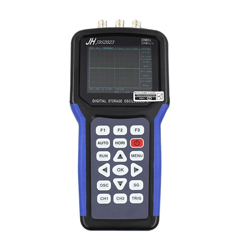 Jinhan JDS2023 Handheld Oscilloscope 1 Channels 20MHz oscilloscope jinhan jds2023 handheld oscilloscope 1 channels 20mhz oscilloscope jds2023 200msa s 16 bit true color in stock now