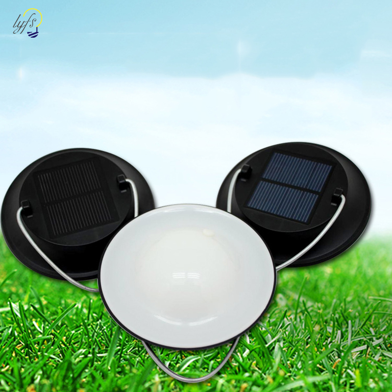 Solar Camping Lantern Lights Outdoor Lighting Waterproof Solar Powered Panel Rechargeable Portable LED Tent Lamps Solar Light
