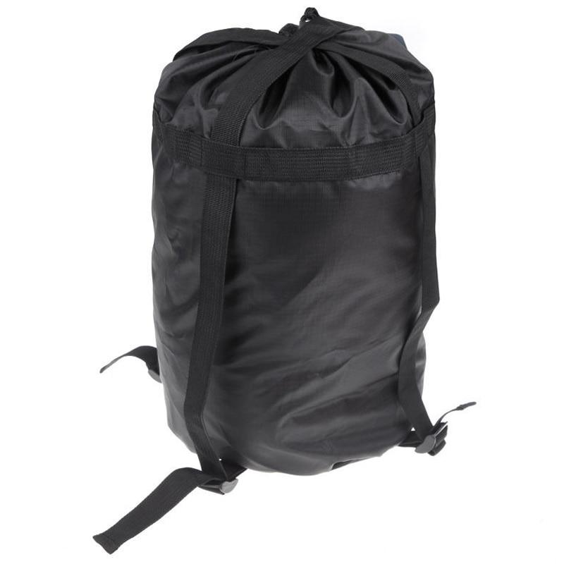 High capacity Compression Stuff Sack Bag Outdoor Camping Sleeping Black S