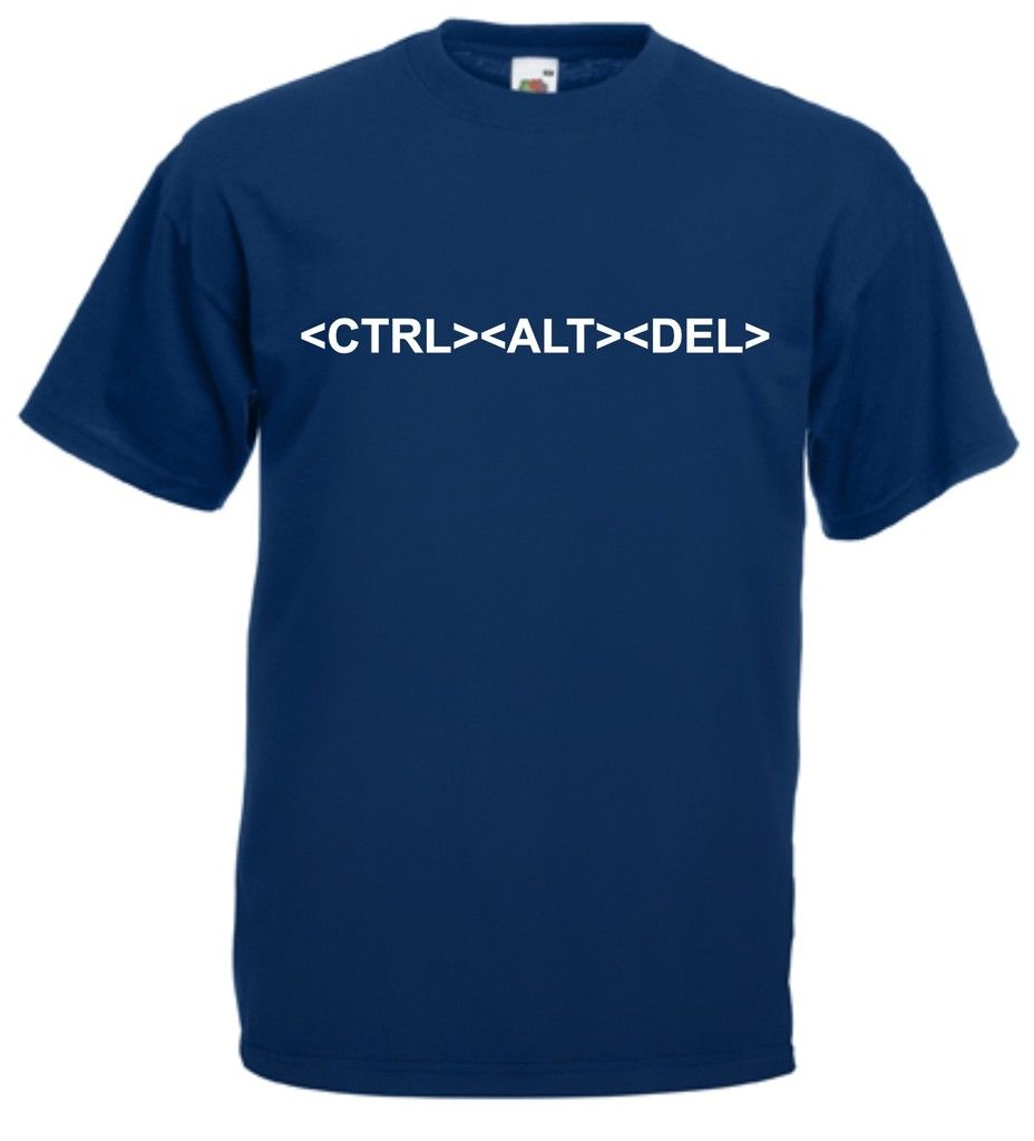 CONTROL ALT DELETE GEEK COMPUTER T-SHIRT CTL DEL New T Shirts Funny Tops Tee Unisex  High Qualityfree shipping