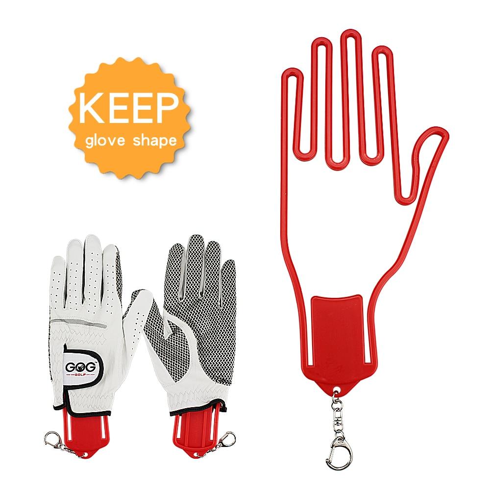 1 Pcs Golf Glove Holder with Key Chain Plastic Glove Rack Dryer Hanger Stretcher 4 Colors Drop Ship(China)