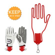 1 szt Schowek na rękawice golfowe z breloczkiem rękawica z tworzywa sztucznego wieszak do suszenia wieszak nosze 4 kolory Drop Ship tanie tanio PJ044 Golf Glove Holder Golf Glove Hanger