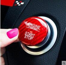 Per Mercedes Benz W166 GLE ML Class 250 300 320 GLE350 400 ML450 550 63 AMG S In Fibra di Carbonio di Arresto di Inizio Del Motore Button Trim Sticker