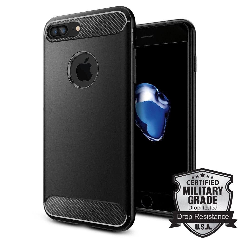 "100% Original SGP Rugged Armor Case for iPhone 7 Plus (5.5"") Ultimate Protective Flexible Durable TPU Carbon Fiber Textures Case"