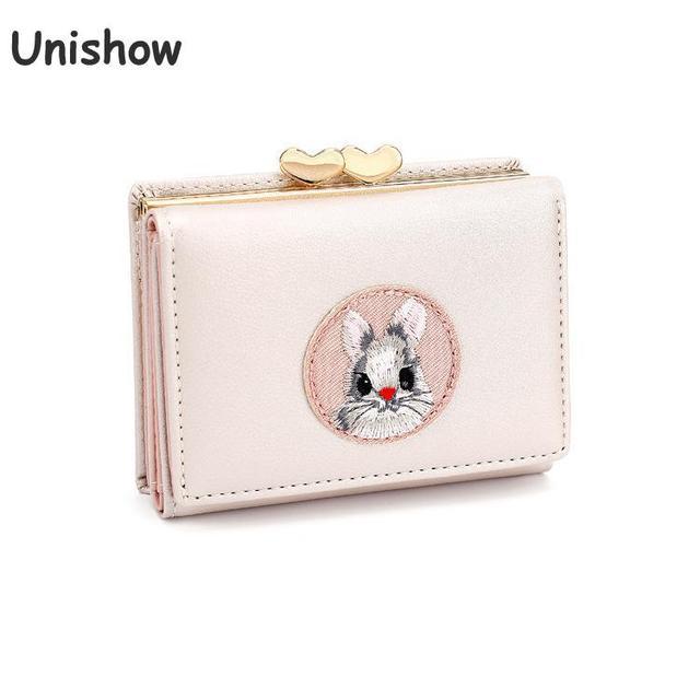 298e6599865b6 Unishow Cartoon Rabbit Women Wallet Cute Animal Girl Purse Brand Design  Small Ladies Wallet Mini Coin Purse Female Card Holders