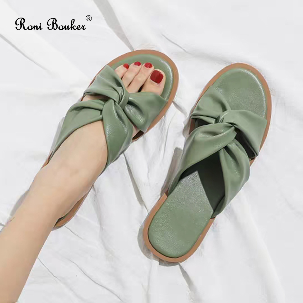 Ladies Summer Outdoor Sandals Breathable Comfy Shoes Closed Toe Flats Slippers