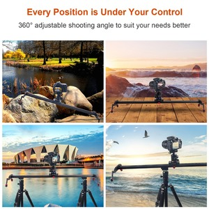 Image 5 - Ashanks 100 cm/39.37 카메라 슬라이더 알루미늄 합금 댐핑 슬라이더 트랙 dslr 또는 캠코더 용 비디오 안정기 레일 트랙 슬라이더