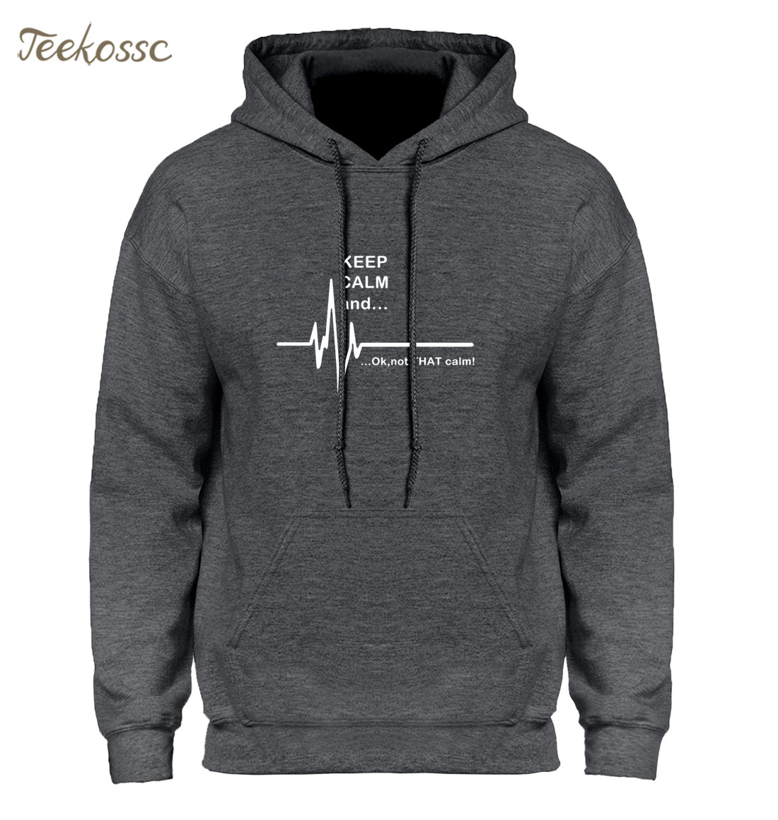Keep Calm and...Not That Calm Hoodie Men EKG Heart Rate Paramedic Nurse Hoodies Mens 2018 Winter Autumn Funny Hooded Sweatshirt