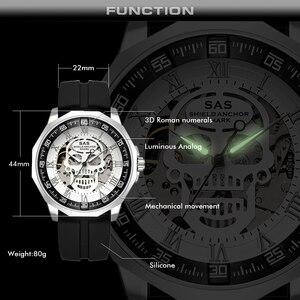Image 5 - SAS Kalkan Çapa Köpekbalığı İzle Erkekler Saat Mekanik kafatası iskelet Saatler Kol Saati relogio masculino