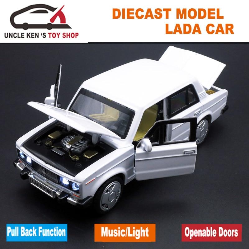 1/32 Diecast Modell Im Maßstab, russische Lada Autos Replik, metall Spielzeug Als Jungen Geschenk Mit Öffnende Türen/Musik/Zurückziehen Funktion/Licht
