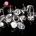 50pcs/lost 925 Sterling Silver Stud Earring Components Pins Needles DIY Ear Findings Wholesale Low Price Free Shipping