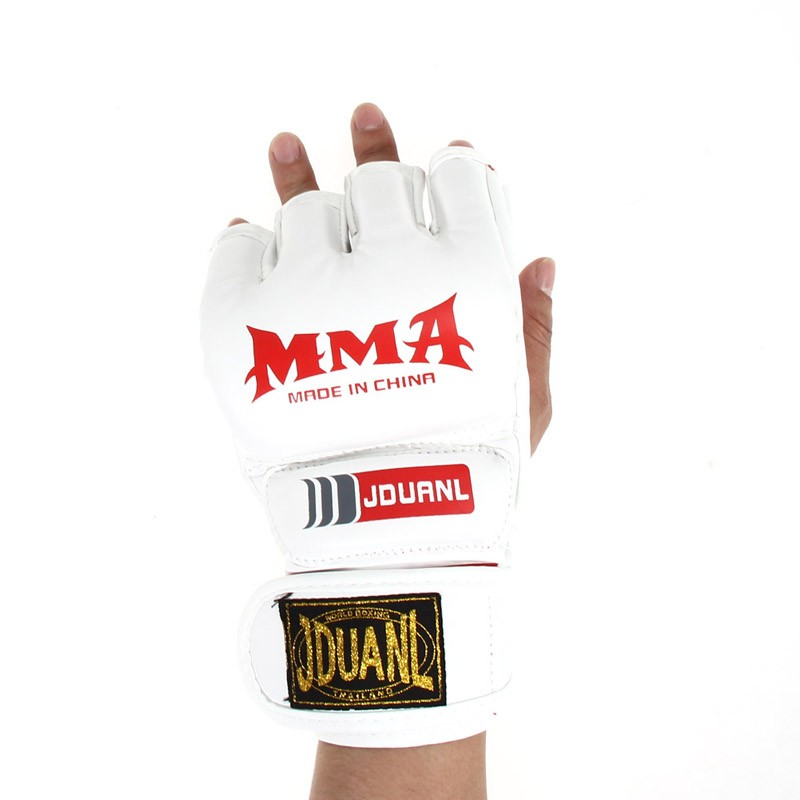 2 style Professional Boxing Gloves MMA Muay Thai Gym Punching Bag Breathable Half/Full Mitt Training Sparring Kick Boxing Gloves 7