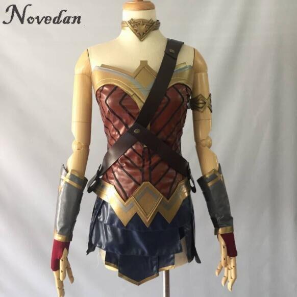 New 2020 Wonder Woman Cosplay Costume Top Skirt Armband Shoulder Strap Headband Tiara Bracelet Cuff Leggings Mulher Maravilha Womens Cosplay Costumes Cosplay Costumemulher Maravilha Aliexpress
