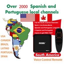 IP ТВ Бразилия Latino голос Управление HD Android ТВ коробка для Чили Эквадор Колумбия Перу Уругвай Парагвай Аргентина Смарт ТВ M3U код