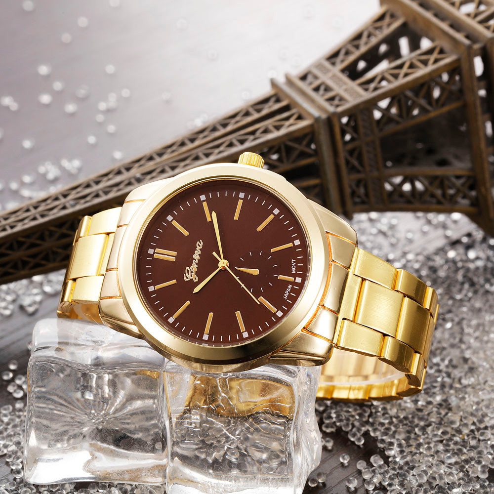 Relogio Feminino Fashion Man Women Gold Watch Crystal Stainless Steel Analog Quartz Wrist Watch Female Hour Saat Reloj Hombre weiqin luxury gold wrist watch for women rhinestone crystal fashion ladies analog quartz watch reloj mujer clock female relogios