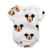 new born baby summer short sleeved bodysuit infant boys girls cartoon bag fart cotton jumpsuit thin pajamas outfits