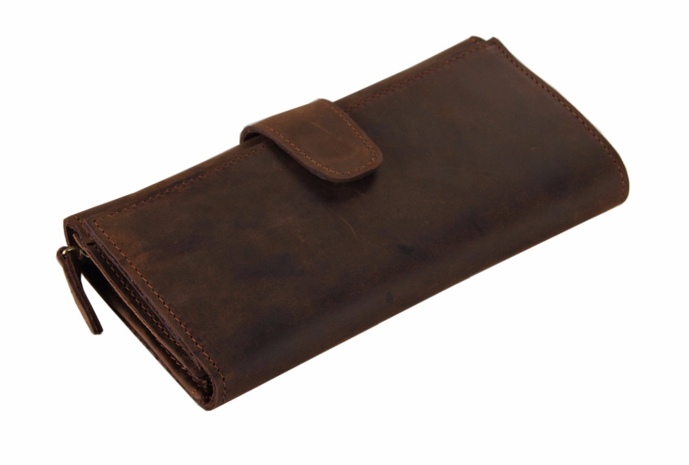 Genuine Leather Wallet Men Cash Money And Card Purse Fashion Long Clutch Bag Leather Long Money Clip For Boys 21 Card Money Bag