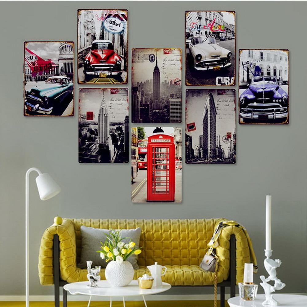 My Garage My Rules Car Iron Sign Metal Decoration Vintage Tin Plaque