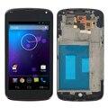 """4.5 """"preto para lg optimus google nexus 4 e960 display lcd touch screen digitador + moldura quadro assembléia completa + ferramentas gratuitas"""