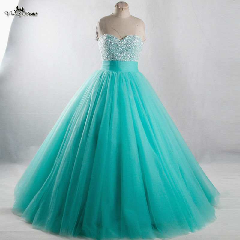 15657 Rse944 Long Sweet 16 Vestidos Menta Verde Quinceañera Vestidos In Vestidos De Quinceañera From Bodas Y Eventos On Aliexpress