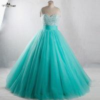 RSE944 Long Sweet 16 Dresses Mint Green Quinceanera Dresses