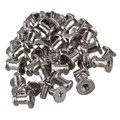 20x BQLZR Silver Zinc Alloy Screw Button Studs for Leathercraft Belts Shoes