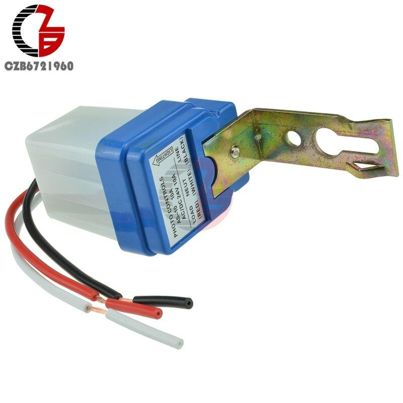 AC DC 24V 10A Sensor Switch Auto On Off Photocell Street Light Photoswitch