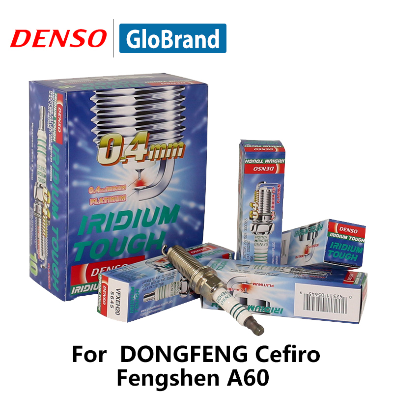 4pcs/lot DENSO Car Spark Plug For DONGFENG Cefiro Fengshen A60 Iridium Platinum VFXEH20 iridium spark plugs 4 pack