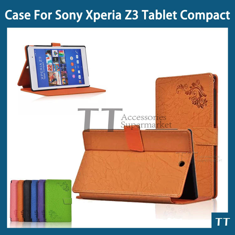 for Sony Xperia Z3 Tablet case leather case for Sony Xperia Z3 Tablet Compact + screen protectors заглушка usb sony xperia z3 compact белая