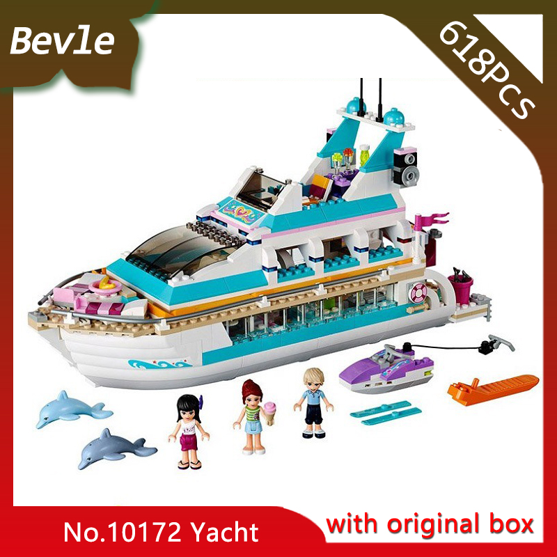 Bevle Store Bela 10172 518Pcs with original box Friends Series Dolphin yacht Model Building Blocks compatible  Lepin 41015 стоимость