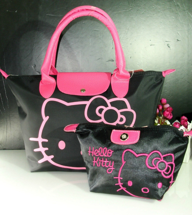 New Hello Kitty Hand Bag Shoulder Bag Purse Xw-1019y Top-handle Bags