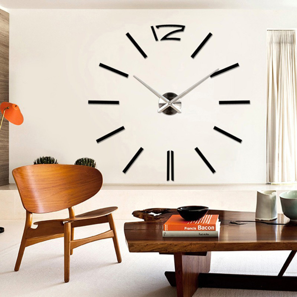 Fashion new home decor wall clock european oversized for Modern minimalist wall art