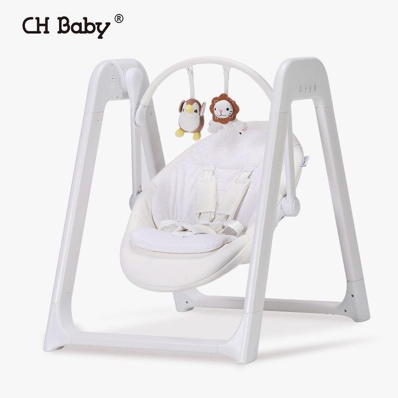 CHBABY bébé balançoire électrique Chaise à bascule multi-usages bébé nid bébé berceau lit Chaise Longue enfants apaiser bébé hamac