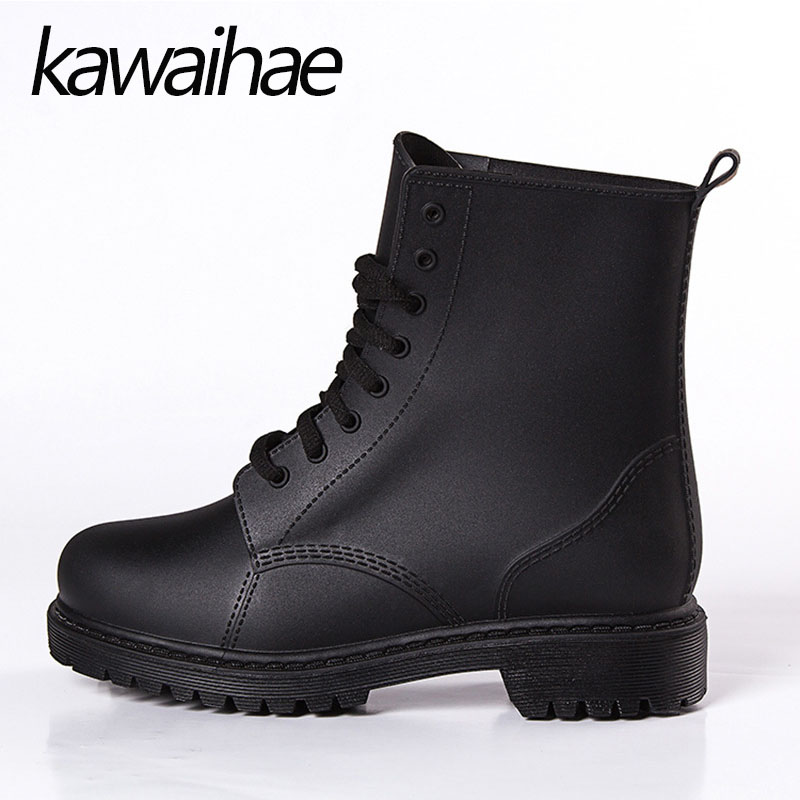 2017 Autumn Winter PVC Men Rubber Shoes Male Waterproof Rainboots Rain Boots Kawaihae Brand Riding Martins Boots 809-1