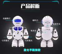 1515KHD Intelligent Robot Kid Electric Toy Drums Singing Dancing Cool Lighting Electric Robot Toys For Children