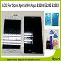 "5.0 ""lcd nuevo para sony xperia m4 aqua e2303 e2353 e2333 Pantalla LCD de Pantalla Táctil con la Asamblea Del Digitizador + Adhesivo + herramientas"