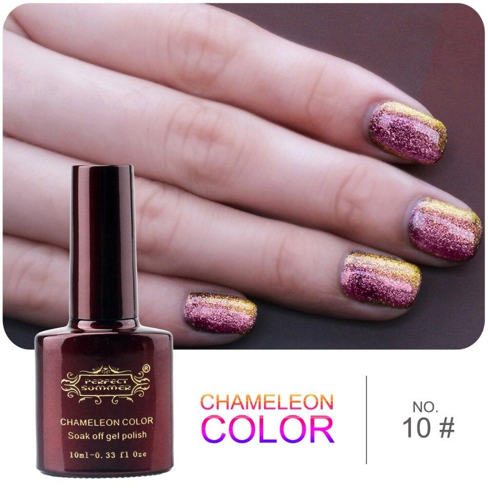 Color Changing Gel Nail Polish: Perfect Summer Newest Chameleon Gel Nail Polish Soak Off