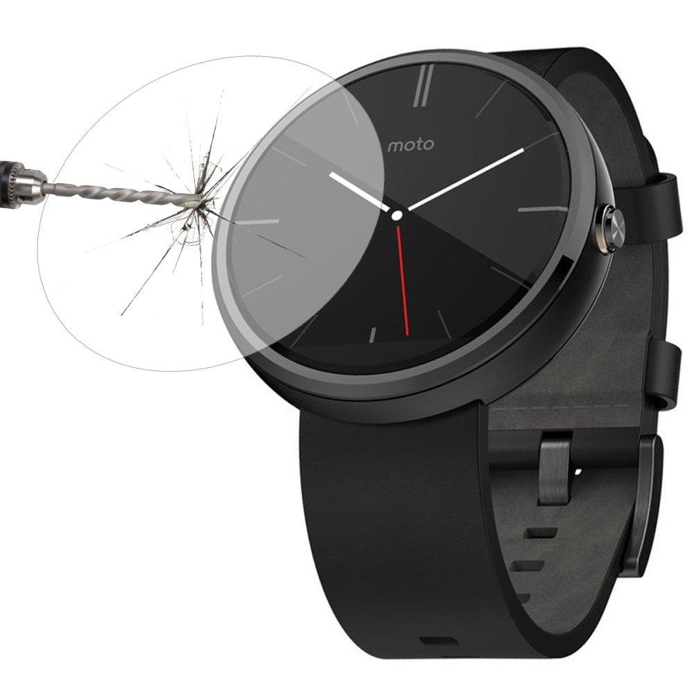 SCLS 0.3mm Ultra Thin 2.5D 9H Real Tempered Glass For Moto 360 Smart Watch