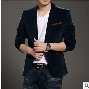 Blazer De Veludo M-4XL verde Azul Verde Vermelho Slim Fit Coreano terno Homens Blazers Único Breasted Casamento Vermelho Verde Azul Blazer homens