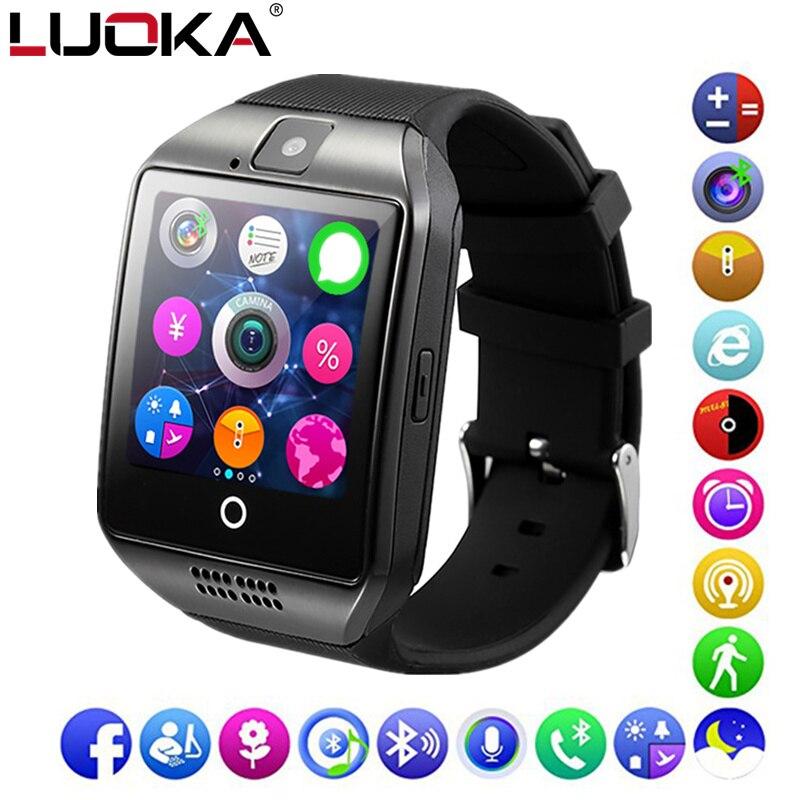 LUOKA Bluetooth Smart Uhr Q18 Unterstützung Sim TF Karte Anruf Push Nachricht Kamera Bluetooth Konnektivität Für IOS Android Telefon